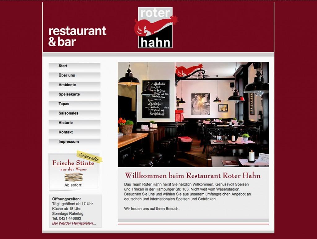 Webseite www.roterhahn-bremen.de